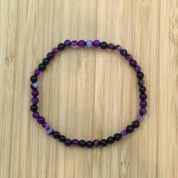 Bracelet agate violette 4mm