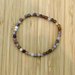 Bracelet agate 4mm