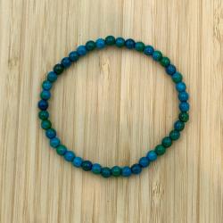 Bracelet  chrysocolle 4mm