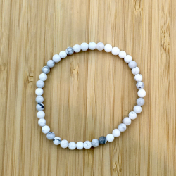 Bracelet howlite 4 mm
