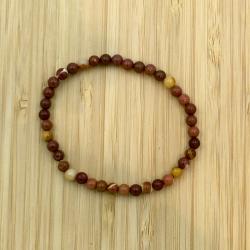 Bracelet japse mokaïte 4mm