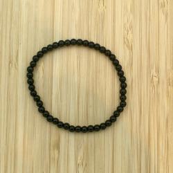 Bracelet tourmaline noire 4mm