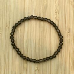 Bracelet quartz enfumé