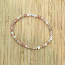 Bracelet  pierre de lune 4mm