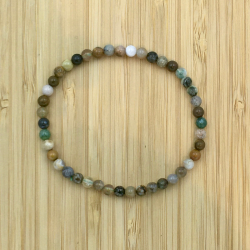 bracelet jaspe ocean 4mm