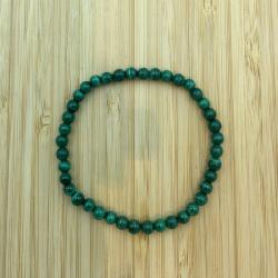 bracelet malachite 4mm