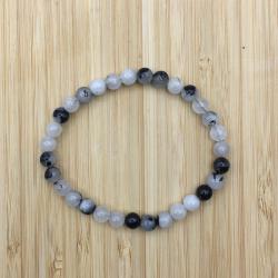 Bracelet quartz tourmaline 6mm
