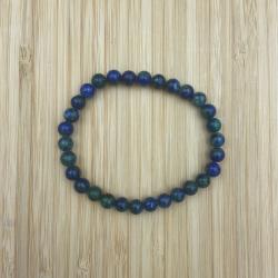 Bracelet azurite malachite 6mm