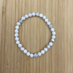 Bracelet howlite blanche 6mm