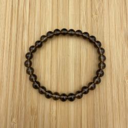 Bracelet quartz enfumé 6mm