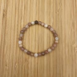Bracelet pierre de lune 6mm