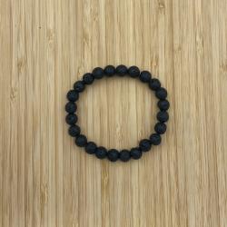 Bracelet lave de volcan 8mm