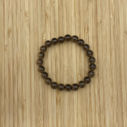 Bracelet quartz enfumé 8mm