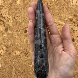 baton de massage en labradorite larvikite