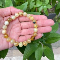 Bracelet opale jaune 8mm