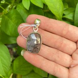 pendentif quartz tourmaline